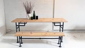homemade modern episode 3 diy wood iron table youtube black iron pipe table