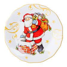 """<b>Тарелка закусочная</b> """"<b>Винтажный</b> Санта"""" в ассортименте Certified ..."""
