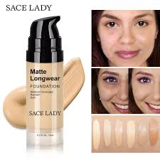 <b>SACE LADY</b> Face Foundation Cream Base Professional <b>Matte</b> ...