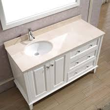 55 inch double sink bathroom vanity: studio bathe lily  in vanity in white with marble vanity top in andover  inch antique bathroom