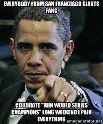 "EVERYBODY FROM SAN FRANCISCO GIANTS FANS Celebrate ""Win World ... via Relatably.com"