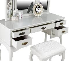white classic wooden makeup charming makeup table mirror