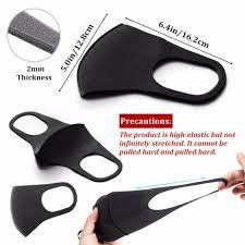 10Pcs N95 respirator Face <b>Mask Sponge Black Breathable</b> Mouth ...