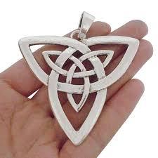 5 <b>x Antique</b> Silver Triple Moon Goddess Wicca Pentagram Magic ...