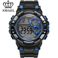 <b>SMAEL</b> Fashion Digital <b>Men LED Watches</b> Outdoor Waterproof ...