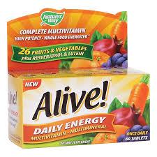 <b>Alive</b>! <b>Daily Energy</b> Multivitamin High Potency (60 Tablets) by ...