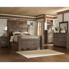 fairfax driftwood rustic modern 6 piece queen bedroom set bedroom furniture set
