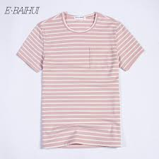 <b>E BAIHUI new</b> fashion mens <b>t shirts</b> Cotton men Clothing Male stripe ...