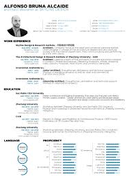 the top architecture résumé cv designs archdaily submitted by alfonso bruna