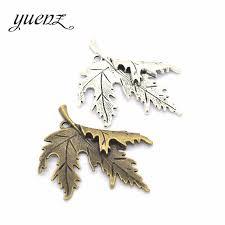 YuenZ <b>3pcs 3 colour</b> Antique silver color Maple leaf Charms Plated ...