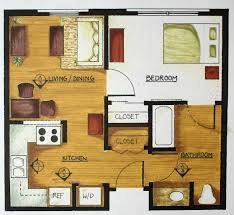 images about Small Space Floor Plans on Pinterest   Floor       images about Small Space Floor Plans on Pinterest   Floor Plans  One Bedroom and Studio Apartment Floor Plans