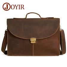 <b>JOYIR men's briefcase</b> crazy horse genuine <b>leather men's</b> business ...