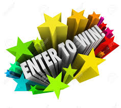 the words enter to win in a starburst of colorful fireworks to stock photo the words enter to win in a starburst of colorful fireworks to illustrate entering or winning a contest raffle or lottery where a jackpot or