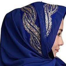 Generic Womens' Chiffion Hotfix <b>Rhinestone Hijab Scarf</b> Cap <b>Hijab</b> ...