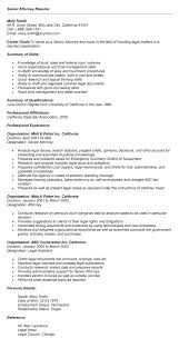 sample resume senior attorney resume sle senior attorney resume
