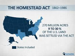 「1862 Homestead Act」の画像検索結果