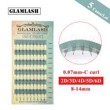 <b>GLAMLASH Wholesale</b> 5 <b>Cases</b>/Lot Premade fan 2D 3D 4D 5D 6D ...