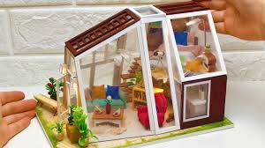 <b>DIY Miniature Dollhouse Wooden</b> House with Garden - YouTube