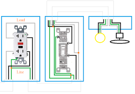 switch outlet combo wiring diagram wirdig gfci light switch outlet combo wiring diagram gfci circuit diagrams