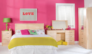 inspiring bright color bedroom design for teenage girls with red astonishing kids ideas pink wall paint black and pink bedroom furniture