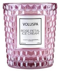 <b>Ароматическая свеча Rose</b> Petal Ice Cream VOLUSPA купить ...