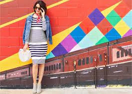 Eliza J <b>Striped Dress</b> : A Classic Look of <b>Stripes</b>, Hearts, and Denim
