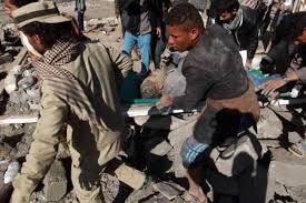 Image result for بمباران پمپ بنزین تعز از سوی جنگندههای سعودی