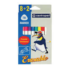 <b>Фломастеры CENTROPEN</b>, <b>ERASABLE</b>, 8+2 цв, ширина линии 1 ...