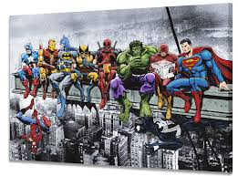 Marvel & DC Superheroes <b>Lunch Atop A Skyscraper</b>