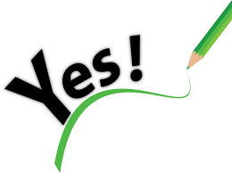 Image result for pictures of people saying yes