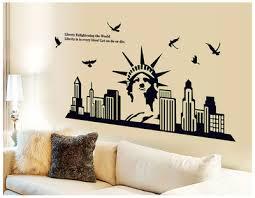 liberty bedroom wall mural: cm luminous statue of liberty modern home decal wall sticker city life wall decor