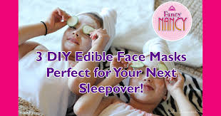 3 DIY Edible Face Masks Perfect For A Kids <b>Spa</b> Sleepover | Fancy ...
