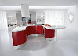 small u shaped kitchen design: awesome small u shaped kitchen awesome small u shaped kitchen ideas with white hood and red accent