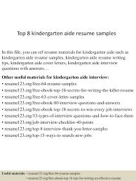 topkindergartenaideresumesamples lva app thumbnail jpg cb