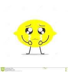 crying lemon simple clean cartoon illustration stock vector crying lemon simple clean cartoon illustration