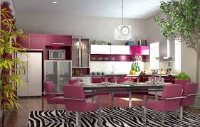 Contemporary Kitchen Rugs Astonishing Contemporary Kitchen Feat Cube Pendant Lamp And Pink
