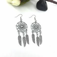 <b>1 Pair Fashion Women</b> Lady Dreamcatcher Ear Stud Gold Earrings ...