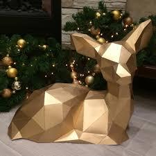 <b>DIY</b> Home Decoration Cute Christmas Elk Deer <b>Paper</b> Model Puzzle ...