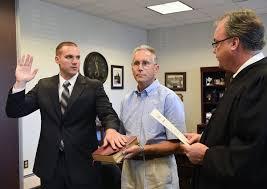 mount laurel native sworn in as police officer in lower makefield lower makefield swears in three new officers