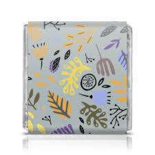 Шоколадка 3,5×3,5 см Яркий абстрактный <b>цветочный узор</b> ...