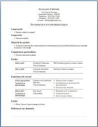 Mod  le et exemple de CV en anglais