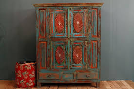 anniversary sale antique distressed multi color blue red indian door modern concept red distressed antique distressed furniture