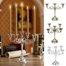 Buy candelabra <b>metal silver</b> candle holder and get free shipping on ...