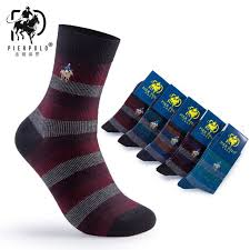 2018 <b>New Autumn</b>/winter <b>Pier Polo</b> Embroidered Male Socks High ...