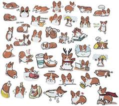 Amazon.com: Fun Cartoon <b>Corgi</b> Stickers - <b>40</b> Stickers - Amazon.com