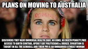 Plans on moving to Australia Discovers they have Universal Health ... via Relatably.com
