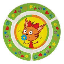 Набор посуды детский <b>PRIORITY</b> Три кота Зеленый фарфор КРС