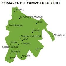 Resultado de imagen de mapa comarca campo de belchite