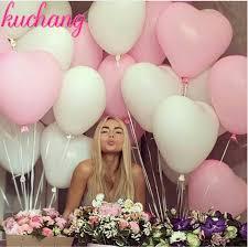 <b>10pcs</b>/<b>20pcs</b> 10inch <b>Pink</b> White red Heart Latex Balloons Wedding ...