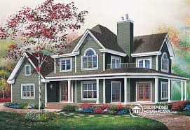 House plan W detail from DrummondHousePlans com    front   BASE MODEL to bedroom waterfront cottage house plan   wraparound porch
